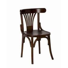 Replica Thonet Bentwood Timber Dining Chair Fan Back Brown Restaurant Cafe