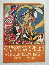 FANTASTIC 1912 STOCKHOLM OLYMPICS POSTCARD - OTHERS YEARS AVAILABLE FROM AUST.