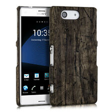 kwmobile Schutz Hülle für Sony Xperia Z3 Compact Vintage Holz Braun Case Cover