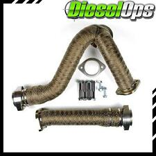 Sinister Diesel Y-Pipes Heat Wrapped for Ford Powerstroke 6.0L 2003-2007
