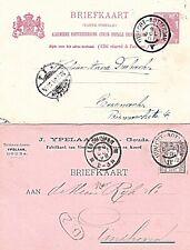 2x Grootrond Trein Utrecht-Rotterdam II 1898 en V 1901 op briefkaart