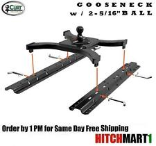 25K CURT 5TH WHEEL RAIL SPYDER GOOSENECK TRAILER HITCH w/ UNIVERSAL RAIL KIT
