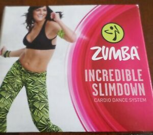 Zumba Incredible Slimdown Cardio Dance System Set of 4 Workout DVDs Party Mix +