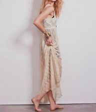 NWT Free People Intimately Romance In The Air Ivory Lace Maxi Slip Dress Sz M