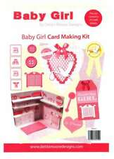 Baby girl bumper cardmaking kit - Debbie Moore Designs, papercrafting, 24 sheets