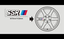 4 pics SSR Wheel JDM Sticker For Universal fit
