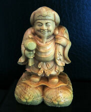 QH005 - 6*3.5*3.5 CM Hand Carved Boxwood Carving : Daikokuten Immortal