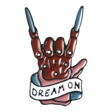 On Brooch Jewelry for Rocker Gifts Freddy Krueger Enamel Pin Skeleton Hand Dream