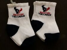 NFL Infant Baby Socks (Size 12-18 Months) Houston Texans #1-2 (2 Pair)