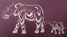 Scrapbooking - STENCILS TEMPLATES MASKS SHEET - Elephants Stencil