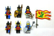 Lego Castle Dragon Knights, Bull Knight Soldiers MINIFIGURES lot 6076, flag 1993