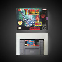 Super Turrican USA NTSC Version With Retail Box Action Game Super Nintendo SNES