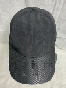 PUMA Fenty by Rihanna Black Perforated Baseball Cap Hat Long Belt Adult Unisex