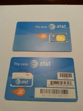 * New At&T Prepaid/Post Paid 3G Sim Card. At&T Sku 71234 3G Unactivated *