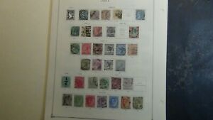 India & states stamp collection on Scott Int'l pages w/ #1k or so to '79