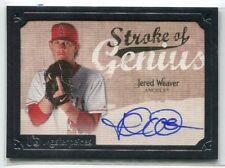2007 UD Masterpieces Stroke of Genius Signatures JW Jered Weaver Auto