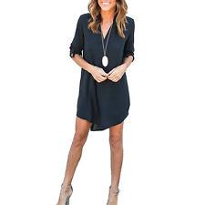 Fashion Women Ladies Chiffon Blouse Long Sleeve Casual T Shirt Tops Summer Dress