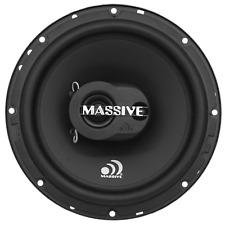 "Pair Massive Audio MX65 250 Watt 6.5"" 3-Way Coaxial Speakers 6-1/2"" W/ Grilles"