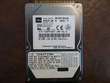 "Toshiba MK3018GAS (HDD2169 S ZE01 T) 110 B0/Q3.03C 30gb 2.5"" IDE/ATA HDD"