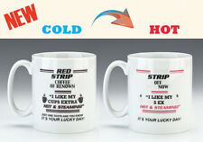 Behind the lines STRIP OFF NOW...... Heat change Mug Fun Adult humour gift  New