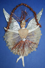 antikes viktorianisches Christbaumschmuck Teil Ballerina aus Tinsel & Papier