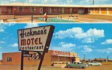 Aspermont TX Hickman's Restaurant & Motel Old Cars Postcard