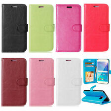Fashion Magnetic PU Leather Wallet Card Holder Stand Flip Case Cover For Samsung