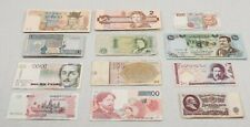 FOREIGN CURRENCY LOT of 48 Mixed World Paper Notes Iraq, Kuwait, S. Korea, etc.