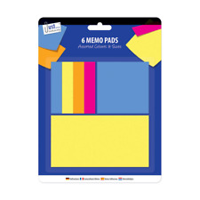 Neon Memo Stickers 3 Sizes Sticky Notes Pad Adhesive Jot Down To Do Office Home