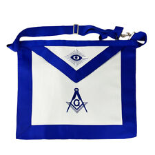 Masonic Master Mason Blue Lodge LEATHER Cover Apron Compass & Square Regalia