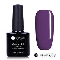 7.5ml UR SUGAR Nail UV Gel Polish Glitter Soak Off Nail Art  Purple 699