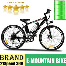Electric Bike 26 Inch Power Assist Electric Mountain Bicycle 250W 21Speed E-Bike