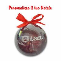 Pallina di natale palle decorazione addobbo di natale personalizzate 8 cm