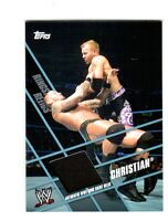 WWE Christian Topps 2011 Ringside Relics Event Used Ring Skirt Relic Card Black