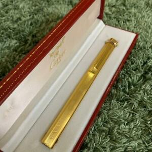Cartier Trinity Ballpoint Pen Gold Cap type pre-owned w/Box