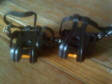 1 PAIR OF  PEDALS WITH CLIPS & STRAPS