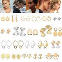 Fashion Women Statement Boho Gold Silver Geometric Big Dangle Drop Earring Gift