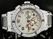 Mens brand new Hublot Big Bang 44mm evolution ceramic band diamond watch 15.95