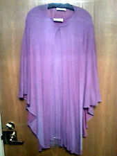 LAVENDER SILVER DRESS CAPE L-XL FORMAL WEDDING RICH ELEGANT CLASSY SET HOLIDAY
