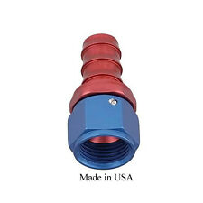"AN Barb Fitting for -6(3/8"") single straight red blue"