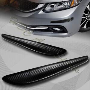 JDM 245MM Carbon Style Bumper Lip Corner Scratch Protector Strip Guard Universal