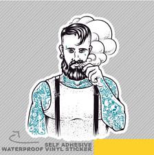 Vape Hipster Man Cloud Tatuaggio E-Cig Adesivo in Vinile Finestrino Auto Furgone