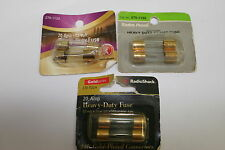 Lot of 120 Radio Shack Heavy Duty 20A 5AG AGU Fuses Gold Plated Connectors