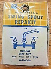 Kirkhill Swing Spout W-204G-28 Repair Kit Sterling Deck Type 1100 1102 1104 1106
