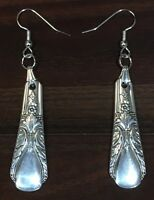 Antique Vintage Spoon Wm Rogers Avalon Cabin Earrings Silverware Plate Jewelry