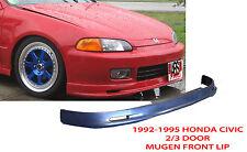 1992 1995 Honda Civic 2/3dr Mugen Style Front Bumper Lip PolyProplyene BLACK