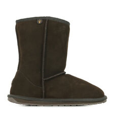 Chaussures Boots EMU Australia fille Wallaby taille Marron Cuir A enfiler