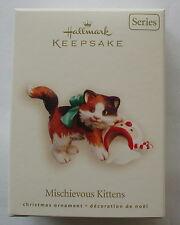 Hallmark 2008 Mischievous Kitten Cat Spilled Milk #10 Series Christmas Ornament