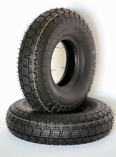 Pair of 4.10/3.50-5 Black Mobility Scooter Wheelchair Power Chair Tyres