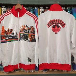 Adidas Adicolor NYC Manhattan Mens Large Bill McMullen Tracksuit Jacket Vintage